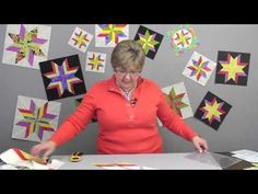 Looking for an exciting way to easily spice up your Rapid Fire Lemoyne Star blocks? Why not try strip piecing your diamond strips for added interest and zip? Quilting Rulers, Quilting Tips, Quilting Tutorials, Quilting Projects, Quilting Designs, Sewing Tutorials, Star Quilt Blocks, Star Quilt Patterns, Star Quilts