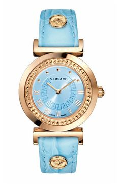 VANITY BY VERSACE LIGHT BLUE AND ROSE GOLD