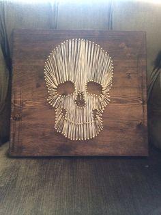 String Art Skull by DistanceOfLove on Etsy