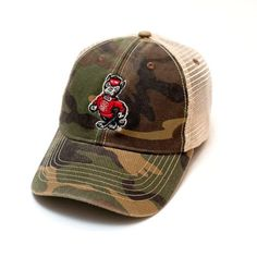 NC State Wolfpack Legacy Old Favorite Trucker Hat - Camo 6c7088b30cde