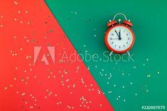 Christmas Flatlay, Alarm Clock, Concept, Stock Photos, Image, Decor, Products, Projection Alarm Clock, Decoration