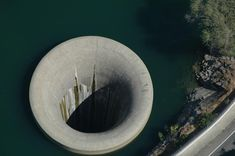4/7 – Monticello Dam Drain Hole Glory holes are used for dam's to drain excess water during dry seasons. This is the largest one of them all in the world, it is located in Lake Berryessa. It is used very rarely, but it is quite the sight to see it being put to use. Located in Napa County, California, USA this glory hole was constructed between 1953 and 1957. The hole diameter is 72ft (22m) wide whilst the critical drop is 280ft (86m)