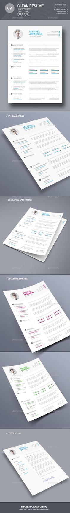 The CV Simple resume template, Cv resume template and Simple resume - cvs resume paper