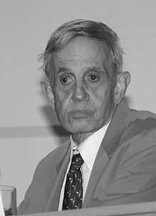 John Forbes Nash Jr., 1994 Nobel Memorial Prize in Economic Sciences. Mathematical genius with paranoid schizophrenia.