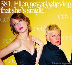 That is one of my favorite things! Or the fact that she thought her and Zac Efron were dating!:D