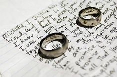 WOW! The Grooms choice! I love it because he wants to do things like this with me. Pre-wedding notes, our vows, and our ring ceremony are already written! Thank you Heavenly Father for this man in my life! Amen ~ The Bride