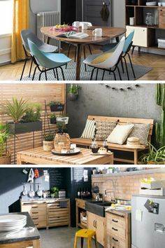 Maisons du Monde: an IKEA alternative for trendy furniture and decoration Source by Ikea Deco, Ikea Dining Room, Trendy Furniture, Beach Bungalows, Home And Deco, Home Organization, House Design, Architecture, Interior
