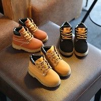 Wish | Boys Girls Fashion Martin Boots Shoes Autumn Winter Warm Boots Kid's Snow Boots Cotton Children