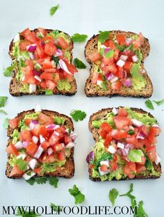 Enjoy avocado toast for breakfast!