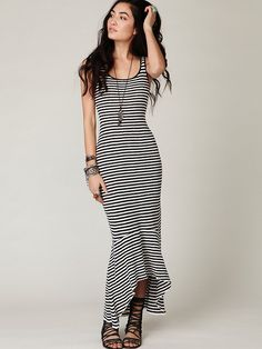 Free People Maxi Dress- However I think the striped would make me look incarcerated...but still **like!!