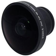 """Opteka Platinum Series 0.2X HD Panoramic """"Vortex"""" 220Deg Fisheye Lens For Sony DCR-SR37, SR38, SR40, SR42, SR45, SR46, SR47, SR48, SR50, SR52, SR57, SR60, SR62, SR65, SR67, SR68, SR70, SR72, SR77, SR80, SR82, SR85, SR87, SR88, SR90, SX83, TRV11, TRV15, TRV16, TRV17, TRV18, TR19, TRV22, TRV25, TRV27, TRV33, TRV38, TRV39, TRV6, HDR-CX100, CX110, CX150, CX300, CX350, CX360, CX370, HC3, PJ10, PJ30, PJ50, SR1, SR10, TD10, UX1, UX10, UX20, XR100, XR101, XR150, XR200, XR350 and HXR-MC1 Digital…"""