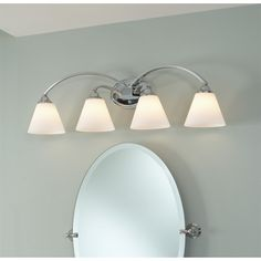 Lowe's Canada Bathroom Vanity Lighting portfolio 3-light brandy chase brushed nickel bathroom vanity