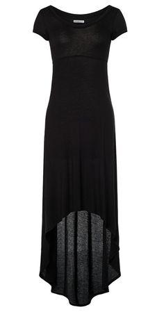 summer maxi dress in black <3