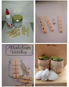 Uitleg houten planten potjes maken van wasknijpers Projects For Kids, Diy For Kids, Diy Projects, Jar Crafts, Diy And Crafts, Board Decoration, Dementia Activities, Clothes Pegs, Diy Tutorial