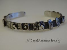 Funky, sterling silver, torched up cuff, one of a kind by JoDeneMoneuseJewelry