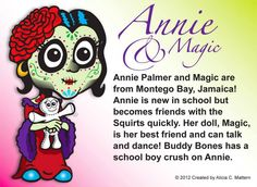 Annie Palmer and Magic  www.zombiesquirts.com