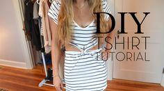 diy tshirt dress | DIY: T-shirt to Dress Reconstruction – desire & inspire