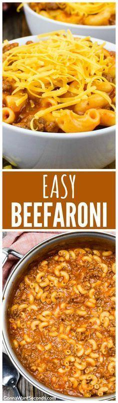 Easy Homemade Beefaroni