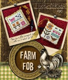 Lizzie Kate Farm Fob Counted Cross Stitch by DebiCreations Cross Stitch Kits, Cross Stitch Charts, Counted Cross Stitch Patterns, Cross Stitch Designs, Cross Stitch Embroidery, Lizzie Kate, Rick Rack, Yarn For Sale, Cross Stitch Patterns