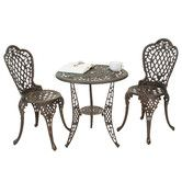 Found it at Wayfair - Domingo 3 Piece Bronze Cast Aluminum Outdoor Bistro Set