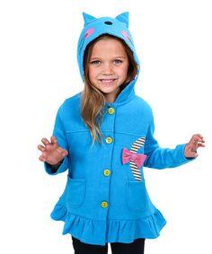Look at this #zulilyfind! Blue Kitty Jacket - Toddler & Girls #zulilyfinds