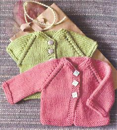 Last Minute Baby Knitting Pattern: For that last minute baby gift, knit a 'top down' cardigan or vest on large needles. Fast, easy and fun to knit. Find at All About Yarn in Tigard, Oregon for only $6.30. www.allaboutyarn.net