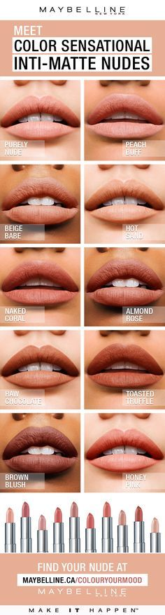 Color Sensational®️️ Inti-Matte Nude lipstick features warm, golden pigments that enrich your natural lip colour. Warmer, more sensational nudes for every skin tone. Pucker up to radiant, confident colour that highlights one's natural beauty.