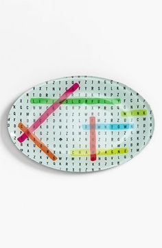 kate spade new york 'say the word' word search dish available at #Nordstrom