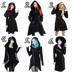 ~ (!?!? ¿Which outfit shall keep you nice & cozy for the Season of Winter?) ¿Which number is your favorite? ¿or Which numbers are your favorite? vv ❤⭐❄☃️ XD ~ #The_Goth_Life #goth #gothic #dark #vampire #werewolf