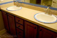 Bathroom Vanity {A Makeover} -