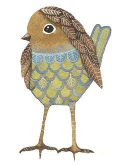 WATERCOLOR ORIGINAL PAINTING - Bird Aceo Miniature - Art Bird by Lorisworld