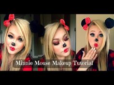Minnie Mouse Halloween Makeup Tutorial - YouTube