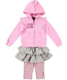 Calvin Klein Baby-Girl`s Infant Hooded Top With Skegging $16.99