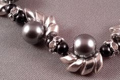 Pearl Wave Bracelet - silver/silver by CreativeEmbers on Etsy