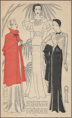 T7653 1930s Evening Gown with Wing Sleeves Sewing Pattern Retro Glamour | eBay