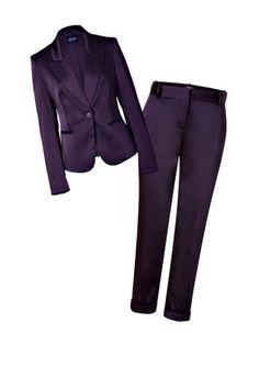 Serious suiting: Steffen Schraut Stretch Satin Blazer and Pants #falltrends