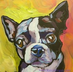 """Daily Paintworks - """"Sorry, Did You Say Something?"""" by Kat Corrigan"""