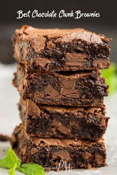 Best Chocolate Chunk Brownie Recipe, make these moist, fudgy brownies for a super indulgent treat! #chocolate #brownies #fudge #chocolatechips #fromscratch #fudgy #easy #dessert #recipe Chocolate Chunk Brownies, Chewy Brownies, Homemade Brownies, Best Brownie Recipe, Brownie Recipes, Cookie Recipes, Oreo Flavors, Chocolate Flavors, Chocolate Recipes