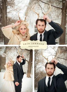 Winter wedding. Photos by Erin Johnson Photography.