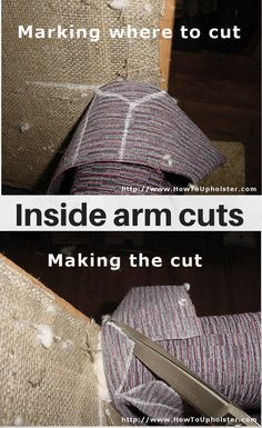 How to make inside arm cuts properly.                                                                                                                                                                                 More