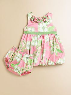 Lilly Pulitzer Kids Infant's Britta Baby Bubble Dress & Bloomers Set