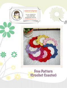 free coaster pattern - crochet