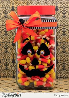 Cathy Weber: Empty Nest Crafter: Top Dog Dies Halloween Candy Jar - 9/1/14