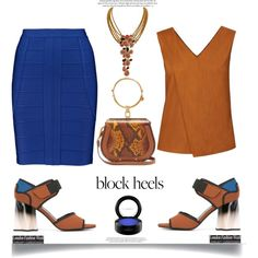 A fashion look from May 2017 by dianefantasy featuring WtR, Hervé Léger, Marni, Chloé, Christian Dior, MAC Cosmetics, polyvorecommunity, blockheels and polyv...