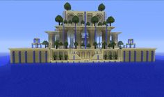 this is our vision of the ancient garden of babylon View map now! The Minecraft Map, Garden of babylon, was posted by miles much. Minecraft Garden, How To Play Minecraft, Minecraft Projects, Minecraft Stuff, Minecraft Houses, Minecraft Challenges, Minecraft Kingdom, City Of Heroes, Minecraft Structures