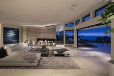 Nadire Atas on Scandinavian Bedrooms / Home Design Idea Crema Perla, stone flooring from Spain. House, Home, Modern House Design, Modern House, House Exterior, House Styles, Luxury Homes, Home Interior Design, Dream Rooms