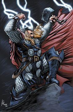 Thor by RossHughes on DeviantArt Marvel Comic Universe, Comics Universe, Marvel Dc Comics, Marvel Heroes, Marvel Avengers, Epic Heroes, Marvel Art, Batman, Spiderman