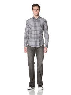 60% OFF John Varvatos Star USA Men\'s Crinkle Long Sleeve Shirt (Atlantic)