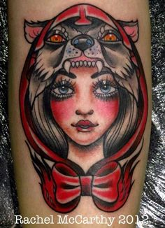 A different version of the Little Red Riding Hood. #tattoo #tattoos #ink