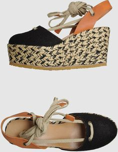 Discover a wide array of products by the best Italian and international designers on YOOX. Chloe Wedges, Chloe Shoes, Posh Beckham, Walk This Way, Sock Shoes, Me Too Shoes, Casual Shoes, Stiletto Heels, Espadrilles